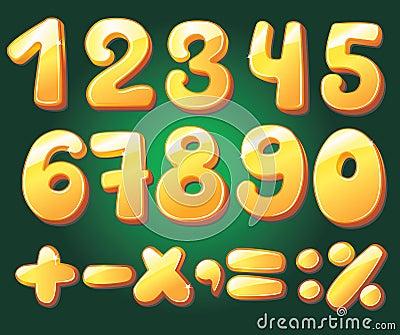 Hand drawn numerals