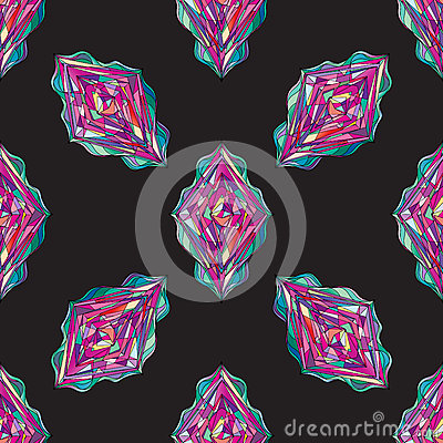 Hand drawn ornament pattern. Vector geometric tracery seamless background. Stock Photo
