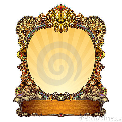 Free Hand Drawn Ornate Frame Stock Photos - 13919863