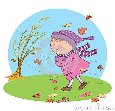 Autumn Season Vector Illustration
