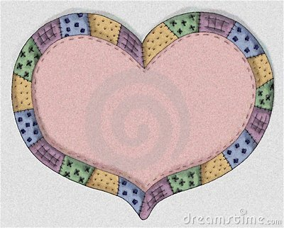 Hand Drawn Pink Quilt Heart