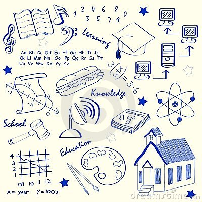 Hand Drawn School Icon Set