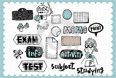 Hand Drawn School Set 02 Royalty Free Stock Image Image 36898546