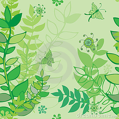 Free Hand-drawn Seamless Leaves Pattern Stock Photos - 23891373