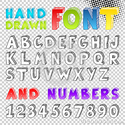 Hand drawn sketch font