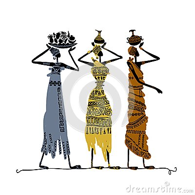 Free Hand Drawn Sketch Of Ethnic Women With Jugs Royalty Free Stock Photo - 31535065