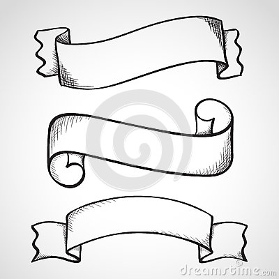 Hand Drawn Sketch Ribbons Stock Illustration - Image: 39530147