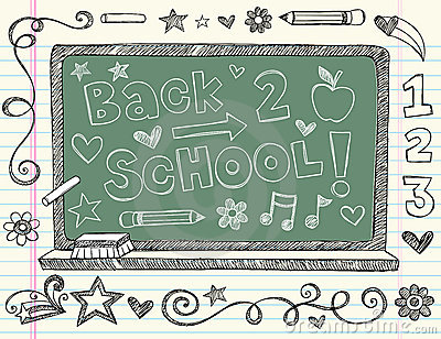 Hand-Drawn Sketchy Back to School Doodles