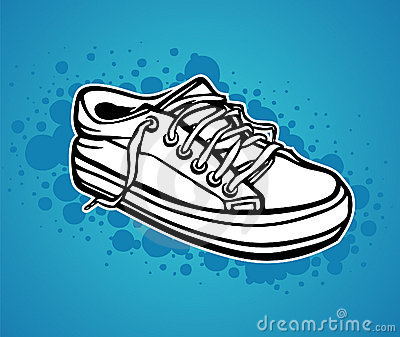 A hand drawn sneaker