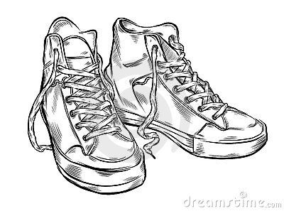 Hand drawn sneakers