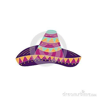 Hand drawn sombrero icon. Can be used for banner or card for Cinco de Mayo Stock Photo