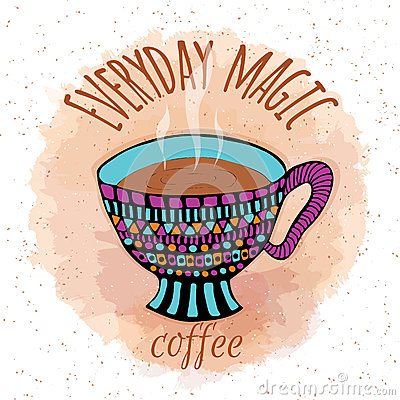 Free Hand Drawn Steamy Coffee Cup Royalty Free Stock Images - 63791889