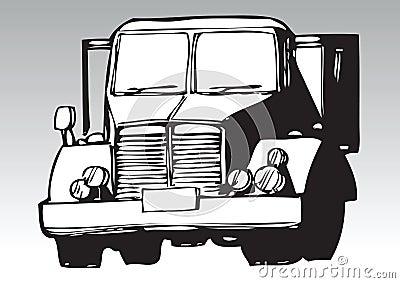 Hand drawn truck