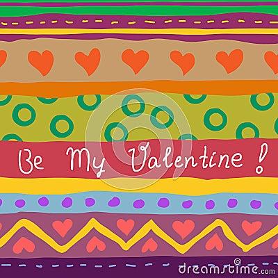 Hand drawn valentine card