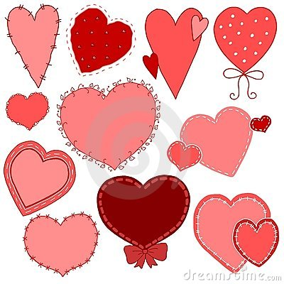 Hand Drawn Valentine s Day Heart Vectors