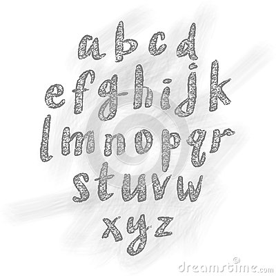 Vector Hand Drawn ABC Letters Stock Vector - Image: 46603098