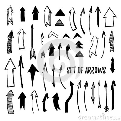 Free Hand Drawn Vector Illustration - Arrow Collection. Sketch. Isola Royalty Free Stock Photos - 75957398