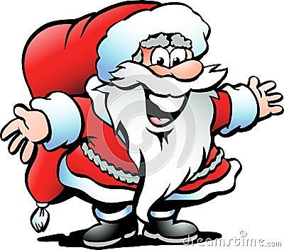Hand-drawn Vector illustration of an Santa Claus