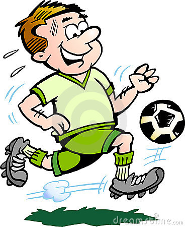 Hand-drawn Vector illustration of an Soccer Player