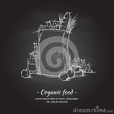Free Hand Drawn Vector Illustration - Supermarket Shopping Bag Stock Photos - 68513403