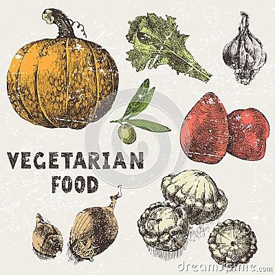 Free Hand Drawn Vegetables Stock Photos - 41841173