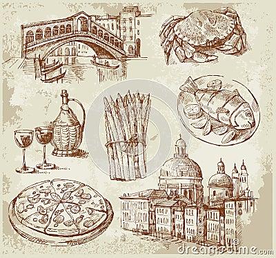 Hand drawn Venice set