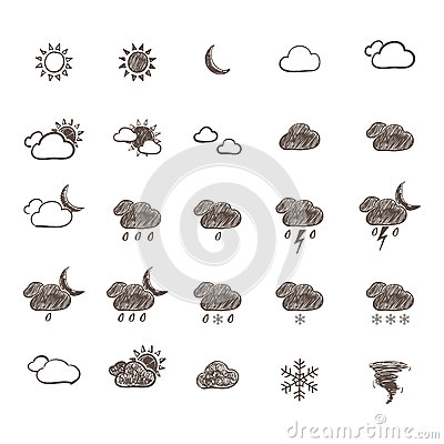 Hand Drawn Weather Icon Set