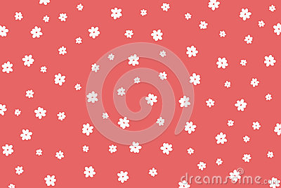 Hand drawn white flowers pattern Stock Photo