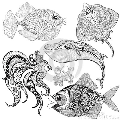 stingray coloring page stock illustration image 50541815 - Stingray Coloring Pages Printable