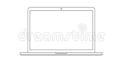 Hand Drawning Laptop Line Whiteboard Animation Stock Video