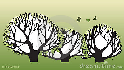 Hand draws trees and environment 2