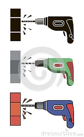 Free Hand Electric Drill Stock Photo - 74173780