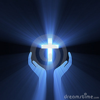 Free Hand Embrace God Cross Light Flare Stock Photography - 6270402