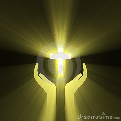 Free Hand Embrace God Cross Light Flare Royalty Free Stock Photos - 6270408