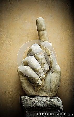 Hand of emperor Constantine, Capitoline, Rome