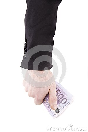 Hand with euro