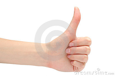 Hand expressing positivity