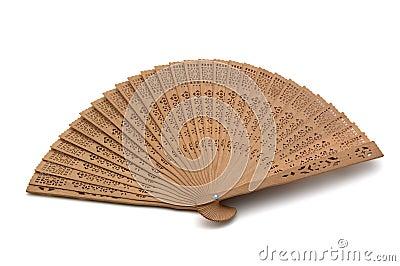 A hand fan