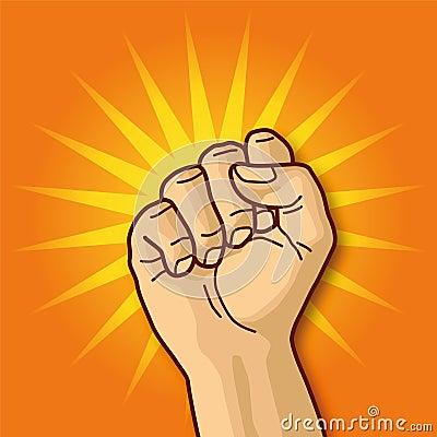 Hand, fist and aggressiveness