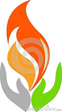 Hand flame