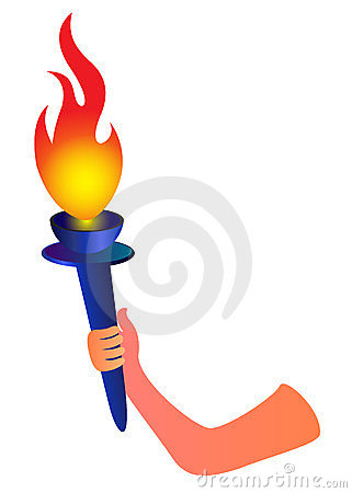 Hand With Flaming Torch Stock Photo - Image: 23848910