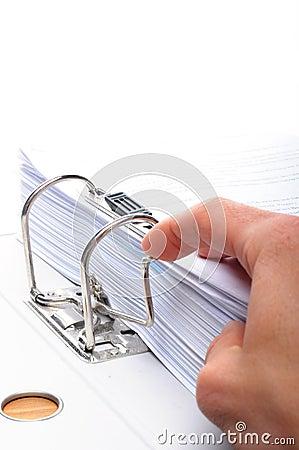 Hand and folder