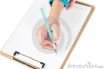 Hand and folders
