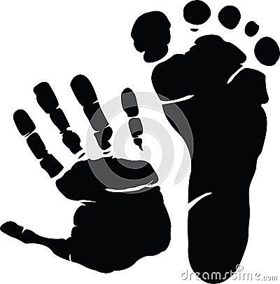 Hand and footprint