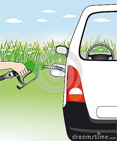 Hand fueling motor car