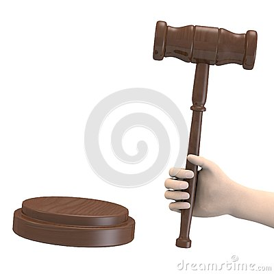 Hand with gavel