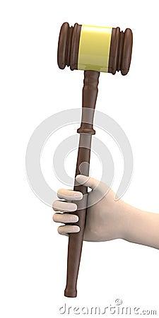 Hand with gavel