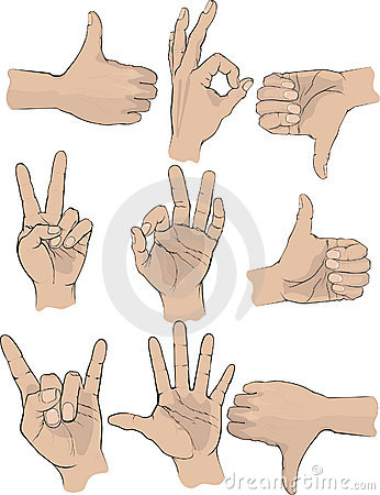 Free Hand Gestures Royalty Free Stock Photos - 10095358