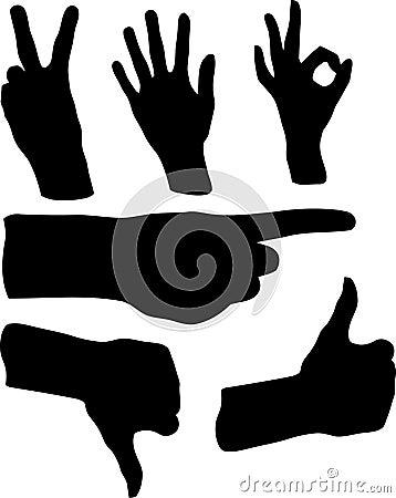 Hand Gestures Illustration