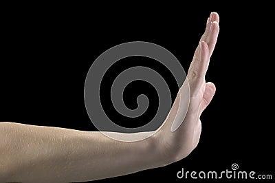 Hand gestures, stop